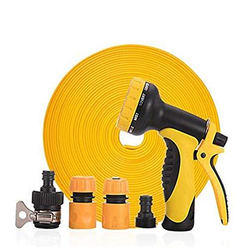 Manguera de jardín boquilla de pistola de rociado Diez sistemas de aspersión de riego de jardín pistola de agua de riego de jardín Kit para el lavado de riego de jardín ( Color : Yellow , Size : 20m )