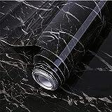 Papel pintado de mármol de 5 m Stick papel de granito impermeable etiqueta extraíble para armario de encimera de cocina (Color-J)