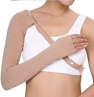 Saiying 1個30-40mmHg アームスリーブ、圧縮スリーブの腫れ防止手袋グローブは腫れ防止腫脹リンパ浮腫をサポートします ユニセックス (右手,Small)