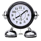 Mein HERZ Réveil analogique Double Bell Réveil avec veilleuse, Réveil Rétro Bell, Réveil Fort, Quartz Drive, Pas de Ticking...