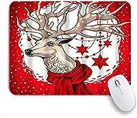 KAPANOUマウスパッド レッドディアクリスマス ゲーミング オフィス最適 高級感 おしゃれ 防水 耐久性が良い 滑り止めゴム底 ゲーミングなど適用 マウス 用ノートブックコンピュータマウスマット