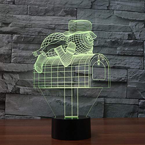 Yxershi Led-nachtlampje, brievenbus, leuke vorm, voor kinderen, bedlampje, bureaulamp, slaapkamer
