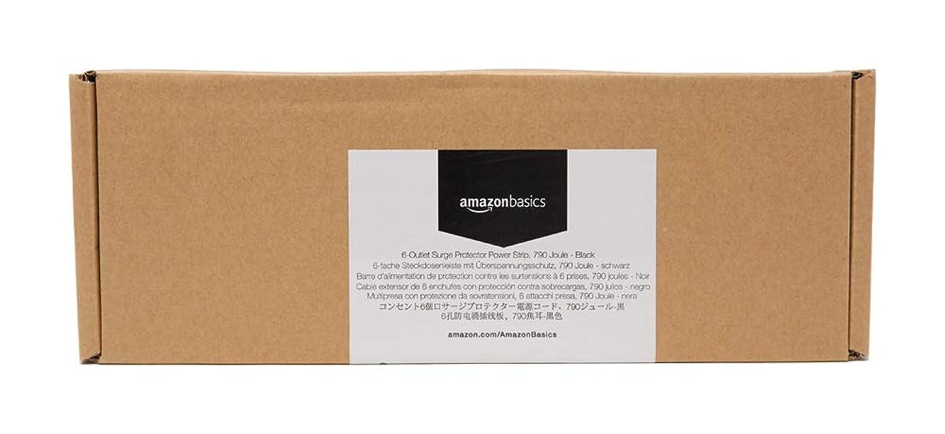 AmazonBasics 6-Outlet Surge Protector Power Strip, 6-Foot Long Cord, 790 Joule - Black