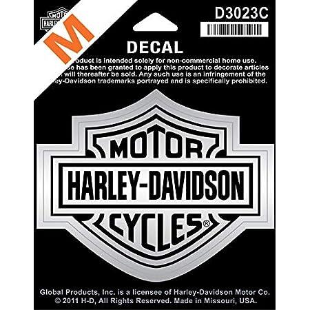 Harley Davidson Aufkleber B S Mittel Silber D3023c Küche Haushalt