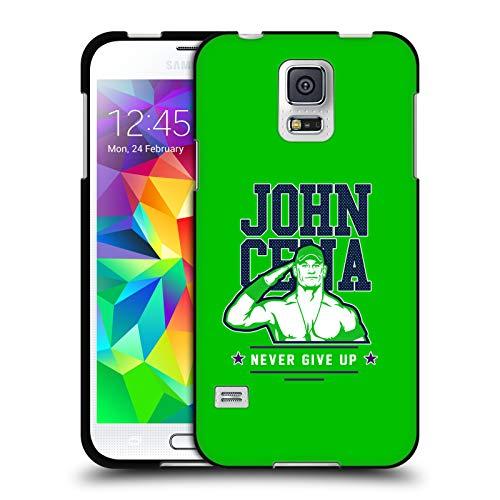 Head Case Designs Offizielle WWE John Cena Never Give Up 2 2018/19 Superstars 4 Schwarze Soft Gel Huelle kompatibel mit Samsung Galaxy S5 / S5 Neo