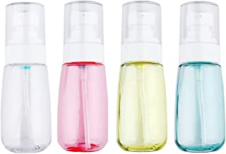 JOSALINAS 4PCS Airless Pump Bottle 3.4oz/100ml Plastic Empty Clear Refillable Travel Container Dispenser for Lotion Creams foundation