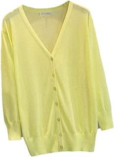 Women Casual Lightweight Long Sleeve Open Front Cardigan Sweater
