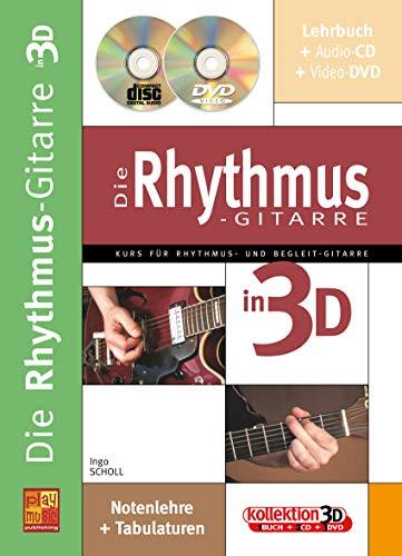 Die Rhythmus-Gitarre in 3D (1 Buch + 1 CD + 1 DVD)