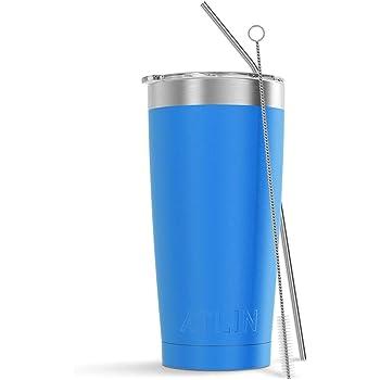 Atlin Tumbler [20 oz. Double Wall Stainless Steel Vacuum Insulation] Travel Mug