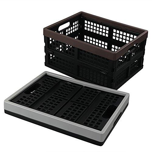 Cadine Cajas de Almacenamiento Plegables de Plástico, 2 Unidades