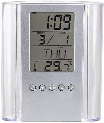 AHTOSKA - Soporte para bolígrafos electrónicos, Transparente, LCD, Digital, Alarma, Reloj