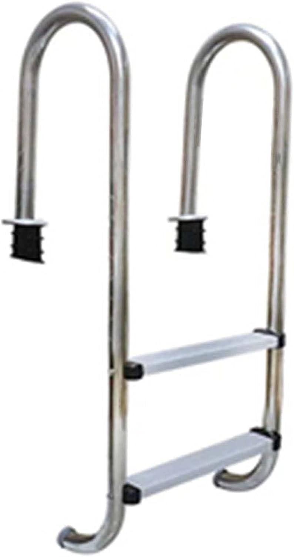 HHXD Escalera para Piscina Acero Inoxidable Escalera Pulida Fácil de Instalar,Antideslizante y Antioxidante/银色 / W50.2cm*H133cm