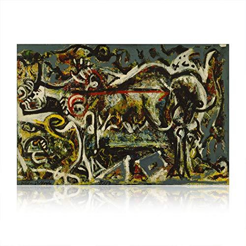 SpringFlower Wandaufkleber Jackson Pollock Premium Kunstdruck Dekoration Poster Design Modernes Wandbild Produkt Für Wohnzimmer, Schlafzimmer, Büro Wandkunst Klebstoff (F Style)