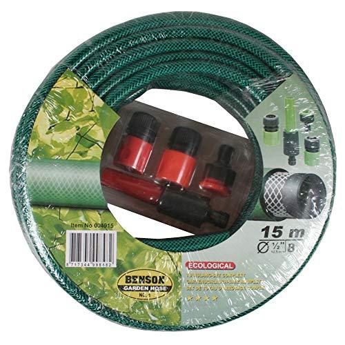15 M de tuyau d'arrosage buse-adaptateur 4 pièces pour arroseur