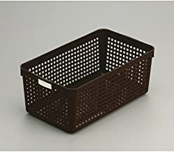 Inomata 4582 Name Wide Basket, Brown