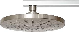 AmazonBasics Rain Shower Head, 8 Inch, Round, Satin Nickel