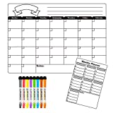 Dry Erase Calendar Board Magnetic for Refrigerator Monthly&Weekly Calendar Whiteboard Organizer Planner