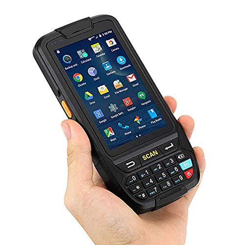 ZUKN Handheld Barcode Scanner pour Android 7.0 du système d'exploitation 1D 2D QR Code à Barres Laser Rapide Lecteur Compatible Bluetooth GPS WiFi 4G et RFIDR Lire Android 7.0 Terminal PDA