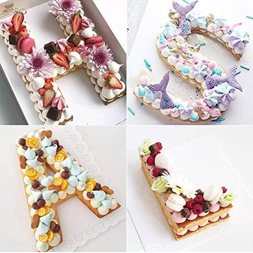 PET alfabet cake vormen cake cookie chocolade decoratie plastic vorm verjaardag cake design bakaccessoires gebak gereedschappen, kleur: Y, vorm stijl: 4 inch