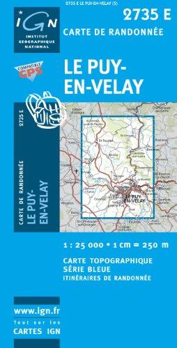 Carte de randonnée : Le Puy-en-Velay (Série Bleue)
