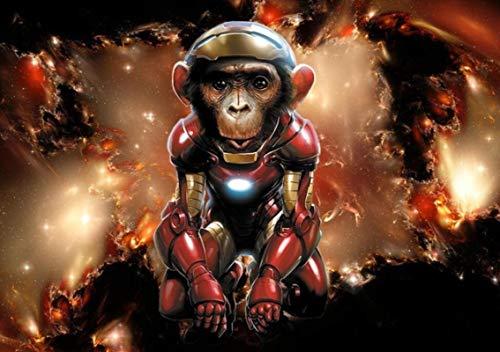 Ctdma Iron Monkey Robot-1000 Piezas Rompecabezas 1000 Piezas Juguetes Educativos De Madera para Adultos, Niños, Juegos para Niños 75X50 Cm