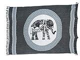 Sarong Pareo Elefant Paisley anthrazit-schwarz/große Auswahl schönste Farben/Wickelrock Strandtuch Sauna-Tuch Wickelkleid Schal Wickeltuch Bademode Freizeitmode Sommermode/aus 100% Viskose