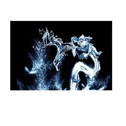 Aquarium Hintergrund Aufkleber Selbstklebend PVC Unterwasser Wasserdrache Hintergrund Poster Hintergrund Dekoration Papier 122x61CM