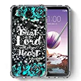 für LG Stylo 4 Hülle, LG Q Stylus Case, SuperbBeast Ultra [Slim Dünn] TPU Silikon Schutzhülle Cover Vector Floral Blumen Polka Dots [Glitzer Muster], Trust In The Lord with All Your Heart/Floral