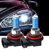 Car Headlights,sakd 2pcs Bright H11 100W 12V 6000K Xenon Gas Halogen Headlight White Light Lamp Bulb