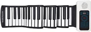 ロールピアノ 88鍵 折畳 電子ピアノ 日本語パネル Bluetooth機能 128種類音色 128種リズム 14デモン曲 マイク内蔵 USB充電 ペダル付き イヤホン/スピーカー対応 初心者 練習 日本語マニュアル付属