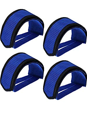 WILLBOND 2 Pairs Bicycle Feet Strap Pedal Straps for Fixed Gear Bike (Blue)