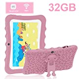 Tablet para Niños 7.0 Pulgadas Tablet PC DUODUOGO 32GB IPS FHD Pantalla Tablet para Niños Quad Core Dual Cámaras WiFi Tablet Infantil, Rosa