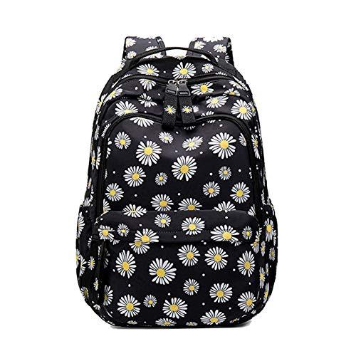 JenLn Mochila Escolar Resistente al Agua Ligera para niñas Niños Escuela Bolsa de Libro Laptop Travel Daypack Mochilas (Color : Black, Size : 30x15x45cm)