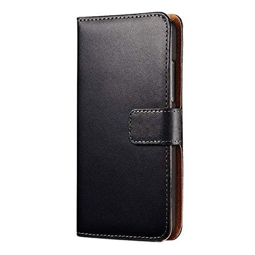 Eximmobile - Book Case Handyhülle für Huawei Ascend Y530 mit Kartenfächer in Schwarz | Schutzhülle aus Kunstleder | Handytasche als Flip Case Cover | Handy Tasche | Etui Hülle Kunstledertasche - 4