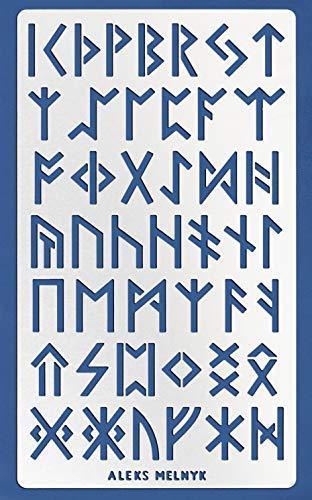 Aleks Melnyk #35 Schablone/Metall Stencil Vorlagen for Painting/Runen, Klein Buchstaben, Alphabet/1 Stück/DIY Kunst Projekte/Stencil für Scrapbooking und Zeichnen/Brandmalerei Schablone/Basteln