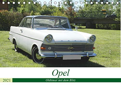 Opel Oldtimer mit dem Blitz (Tischkalender 2021 DIN A5 quer)