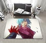 Alfombra de Dibujos Animados de Tokyo Ghoul, Alfombra Antideslizante, Felpudo de Dormitorio-a_80X160CM