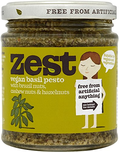 Zest Foods Basil Pesto Suitable For Vegans 165g (Pack of 3)