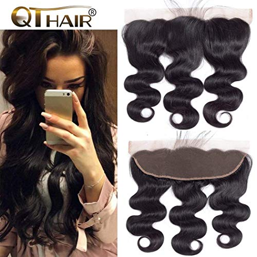 """QTHAIR 12A Grade Brazilian Body Wave Ear To Ear 13x4"""" Full Lace Frontal Closure 20inch Body Wave Brazilian Human Hair 13x4 Lace Frontal With Baby Hair"""