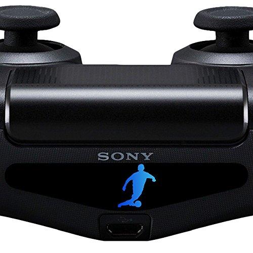 2X Sticker PS4 Controller Decal Aufkleber Fußball Fussball Light Bar LED Playstation 4