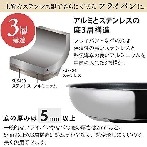 IRISOHYAMA(アイリスオーヤマ)『ステンレスフライパン26cm(SP-F26)』