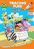 School Zone - Tracing Fun! Write & Reuse Workbook - Ages 3 to 5, Preschool to Kindergarten, Letters, Pre-Writing, Numbers, Shapes, Wipe Clean (School Zone Write & Reuse Workbook)