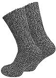 Juego de 2 pares de calcetines noruegos (calcetines de lana)