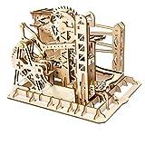 ROKR Maquette Bois Ascenseur Marbre Coaster, Marble Run Mécanique 3D Bois Puzzle Construction Kits avec Ball Jouet Cadeaux pour Adultes Et Ados