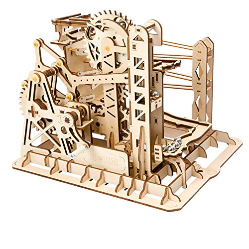 ROKR Mechanical Gears DIY Building Kit Modelo mecánico Kit de construcción con Bolas para Adolescentes y Adultos (Lift Coaster)