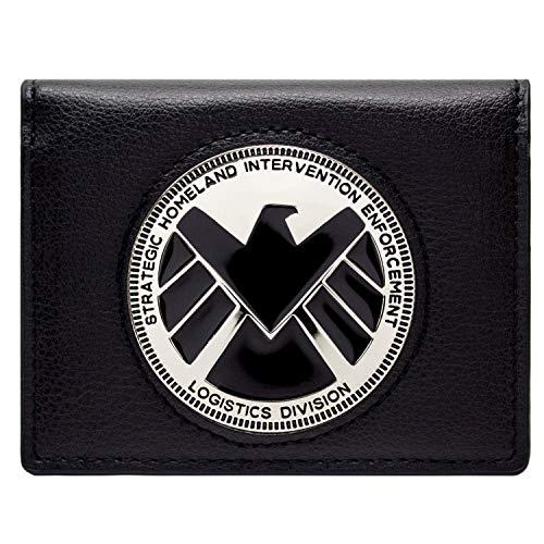 Cartera de Marvel Avengers Agents of Shield Phil Coulson Distintivo Negro
