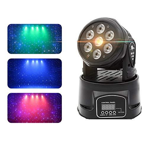 Maxmer 7xLED 150W RGBW Testa Mobile DMX512 Beam Wash Mini Rotante Luci Palco Professionali per Interno Discoteca KTV Scena