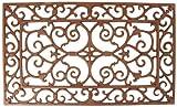 Esschert Design LH42 Country Style Zerbino Rettangolare-Ogettistica arredo Interno, Marrone, 58.2x34x1.8 cm [S]