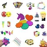 Popular Juguetes sensoriales, autismo juguetes, Juego de juguete sensorial de 37 piezas Juego de alivio de la tensión Autismo Ansiedad Popular Burbuja Juguete para niños y adultos, bolas antiestres So