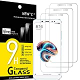 NEW'C Lot de 3, Verre Trempé Compatible avec Xiaomi Redmi Note 5, Redmi Note 5 Pro, Film Protection écran sans Bulles d'air Ultra Résistant (0,33mm HD Ultra Transparent) Dureté 9H Glass
